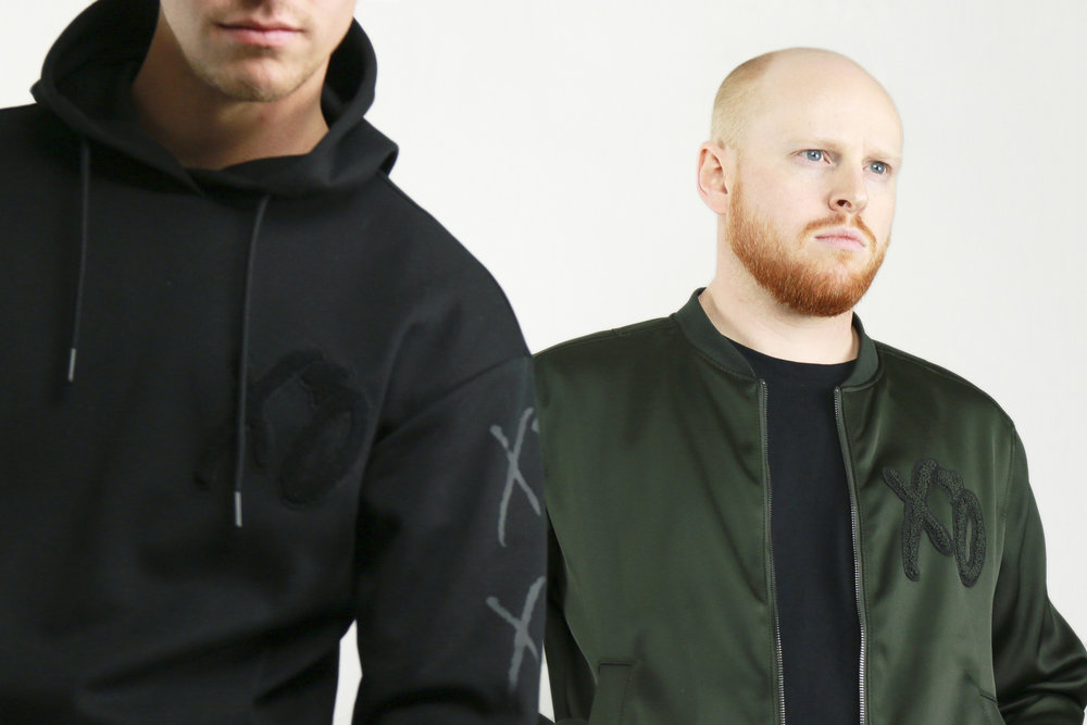 H&M x The Weeknd Men's Spring Collaboration. Green Satin Bomber and XO Black Hoodie