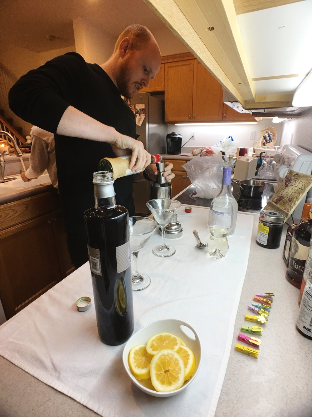 James Mark as the Oh Honey Bee Inspired official bartender and drink mixologist.