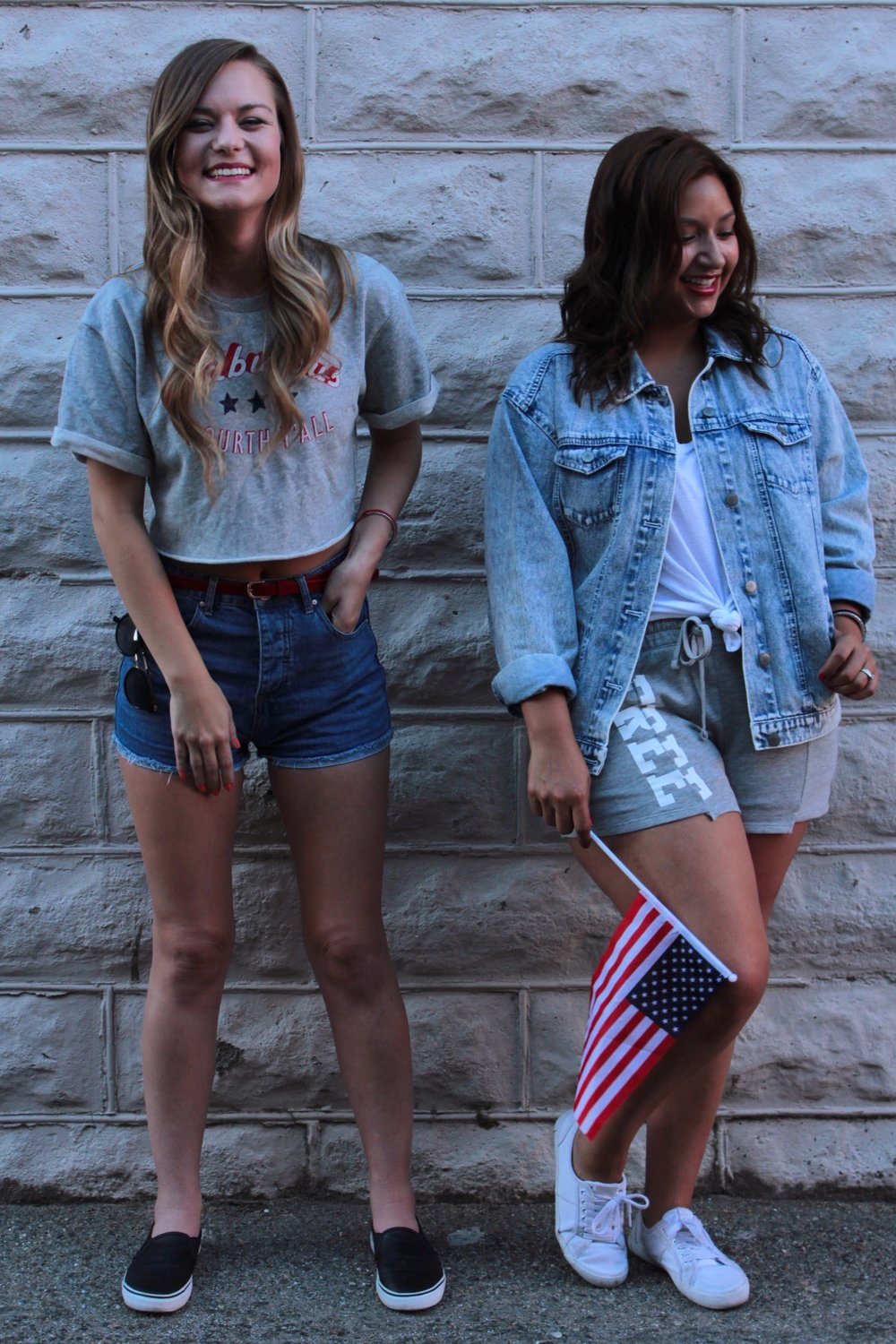 Patriotic Women's Themed Fashion for Independence Day.