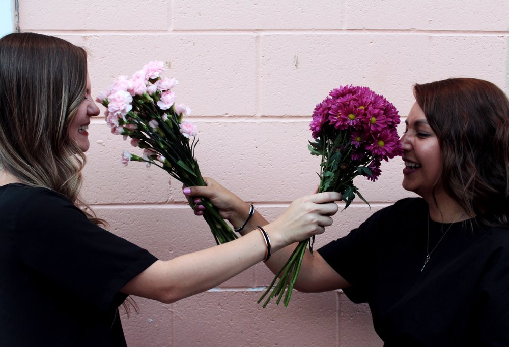 Smell the Bouquet of Carnations and Daisy's.