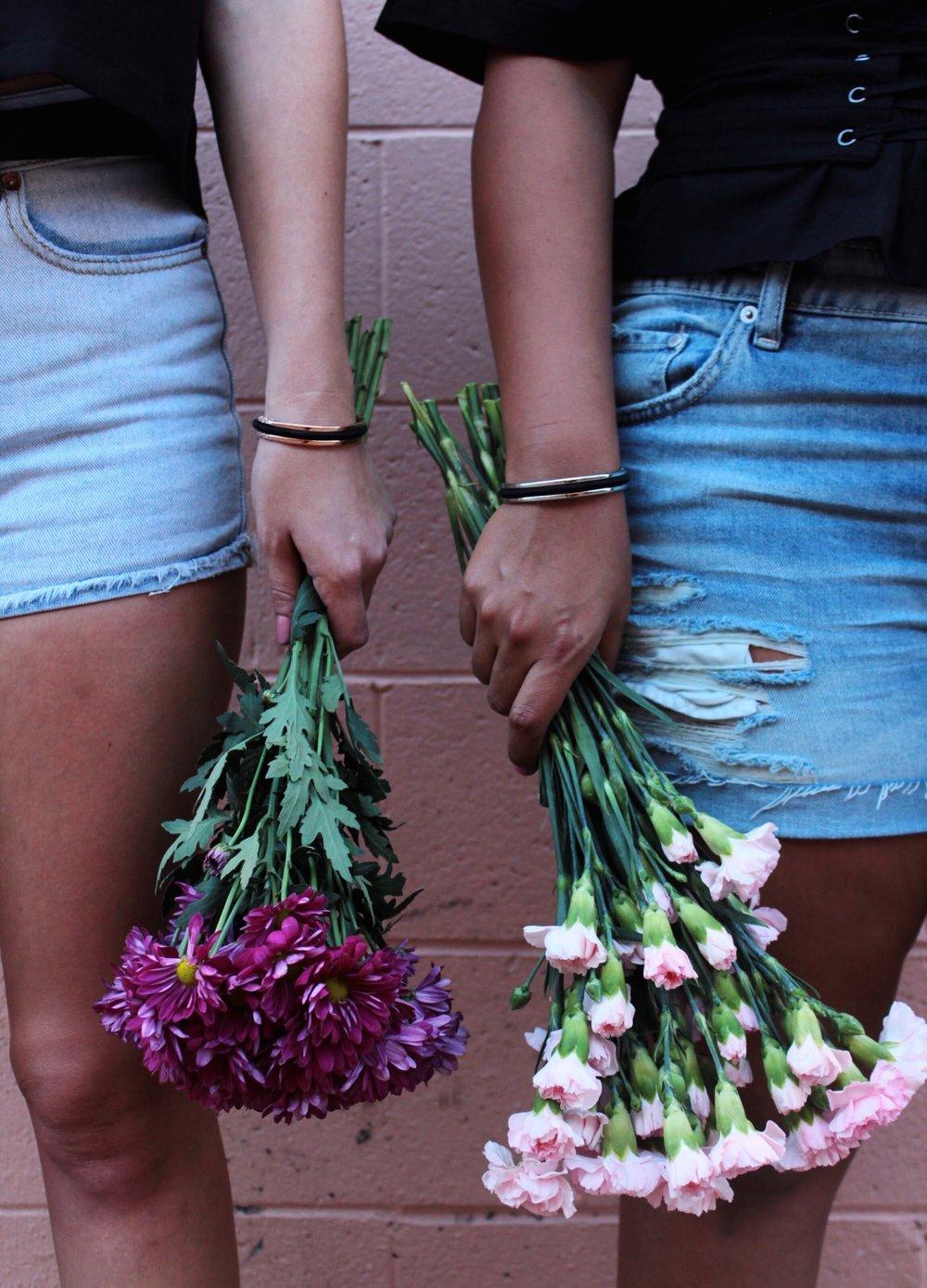 A mix of Florals and Denim