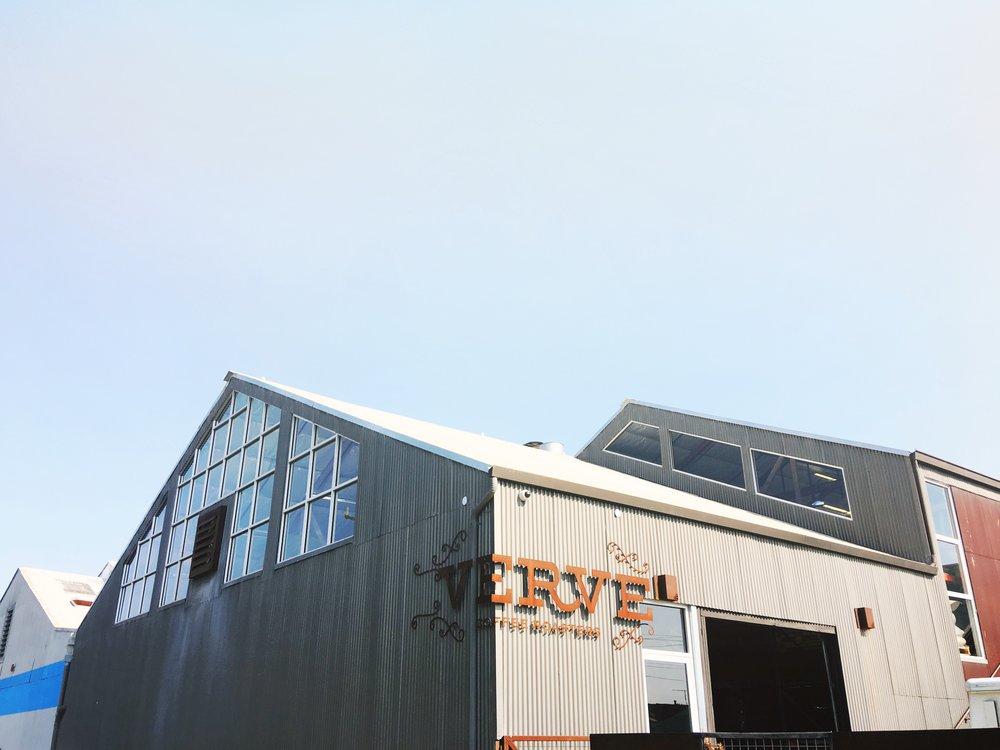 Verve Coffee Rosters Warehouse in Santa Cruz California