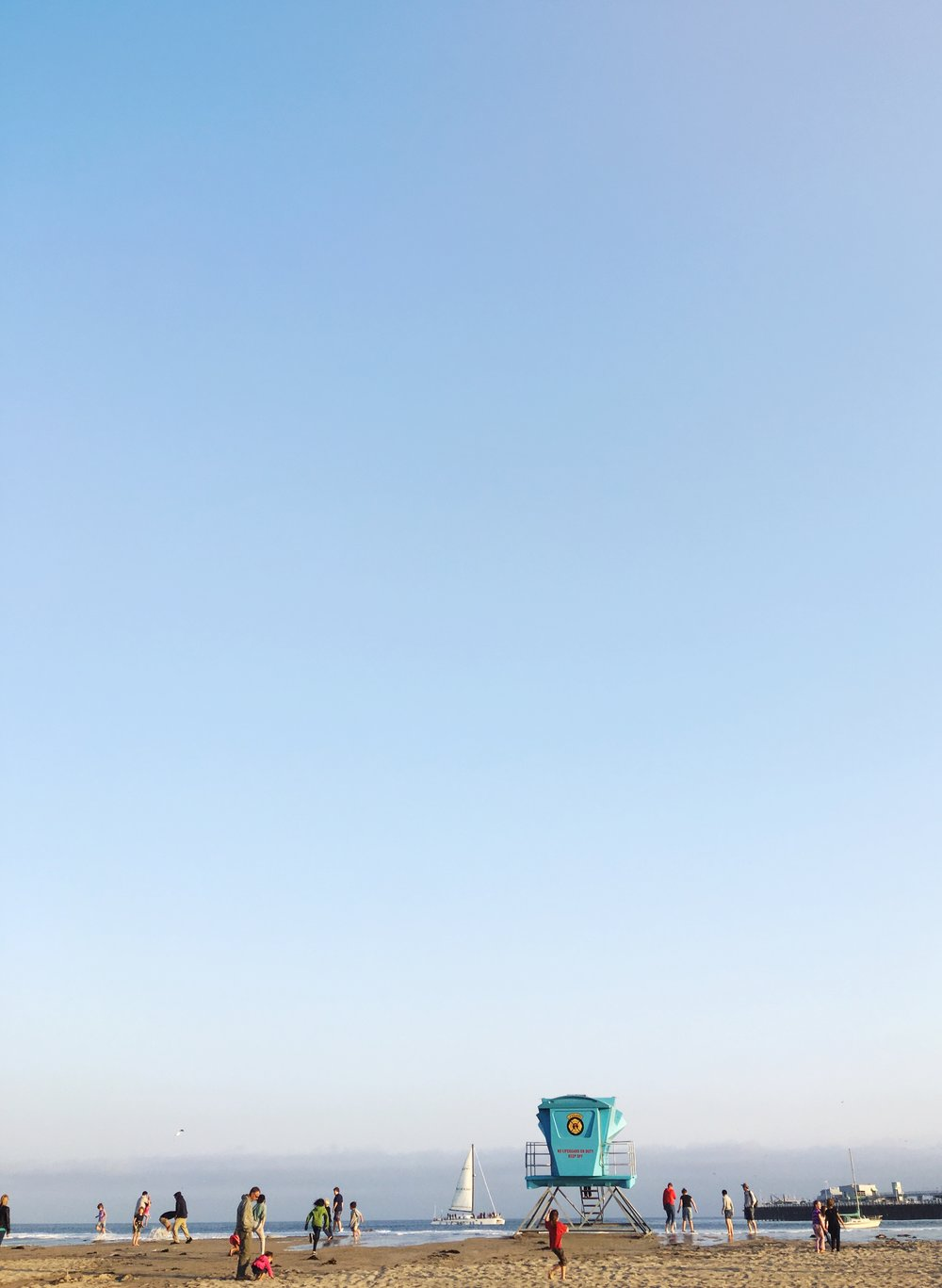 Lifeguard Station at the Santa Cruz Beach