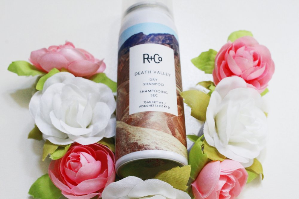 R+Co Death Valley Dry Shampoo and flower crown headband