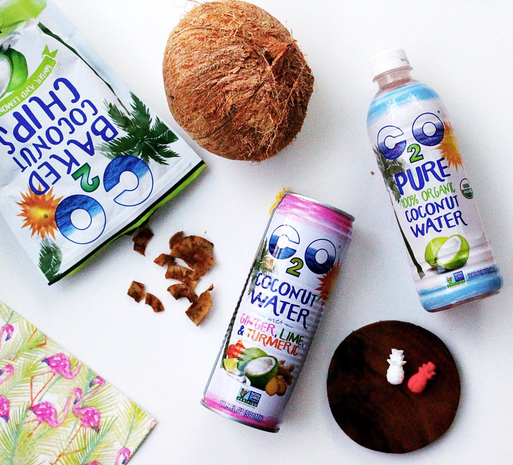 C2O Coconut Products/ Ginger and Lemongrass Coconut Chips, Coconuts, C2O Pure 100% Organic Coconut Water
