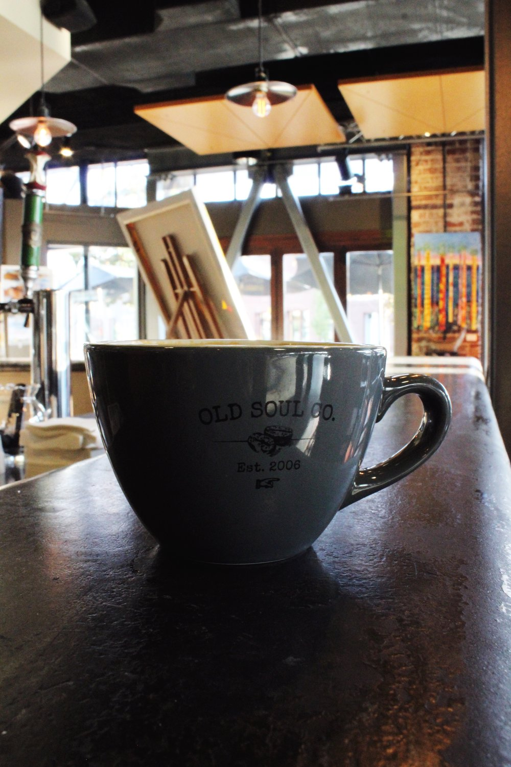 Old Soul Coffee Cup. It was established in 2006. The shop is located in Oak Park Sacramento, California