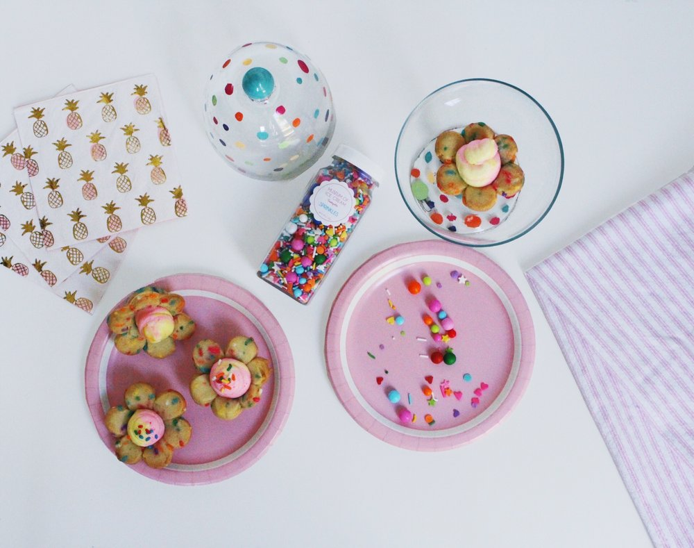 Museum of Ice Cream Sprinkles/ Lemon Filled Cheesecake Confetti Cookie Cups/ Pineapple