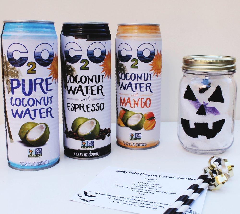 C2O Coconut Water Paleo Pumpkin Smoothie recipe