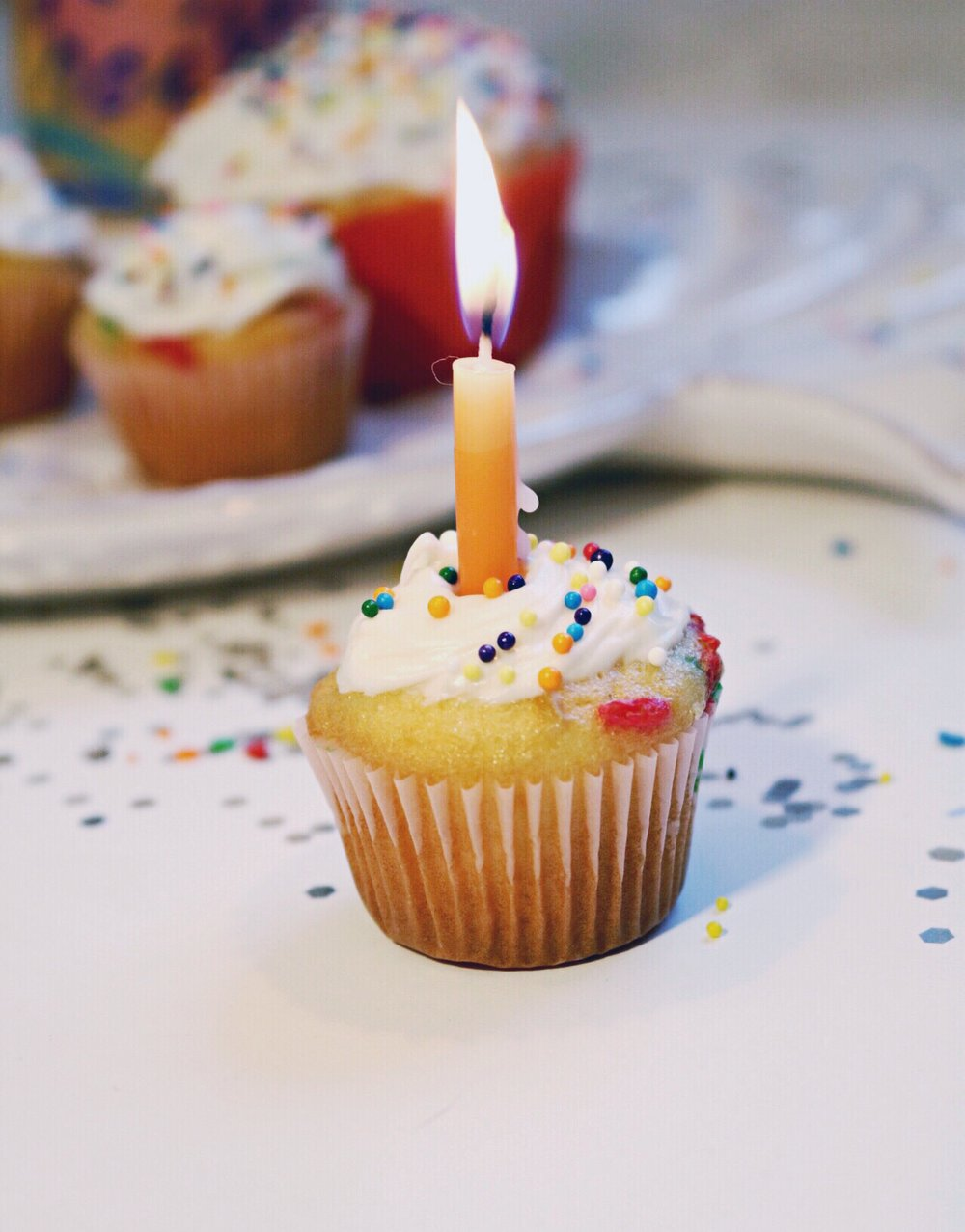 Happy birthday cupcake candle