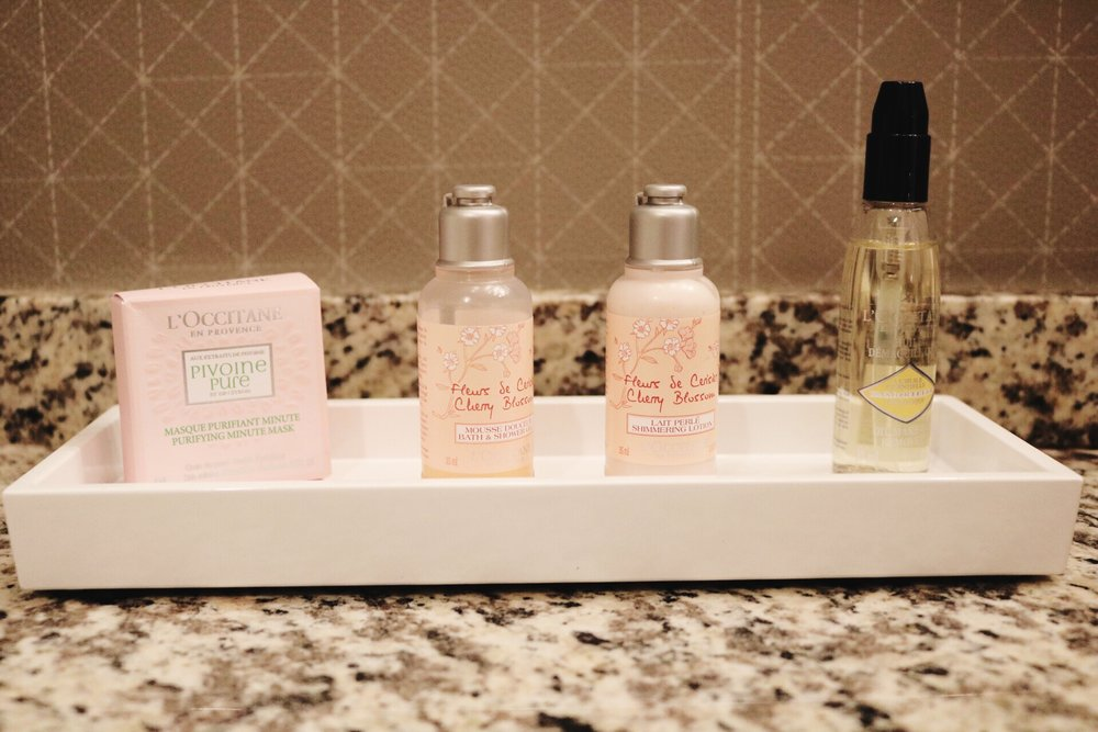 L'Occitane lotion, L'Occitane Soap set, travel size toiletries