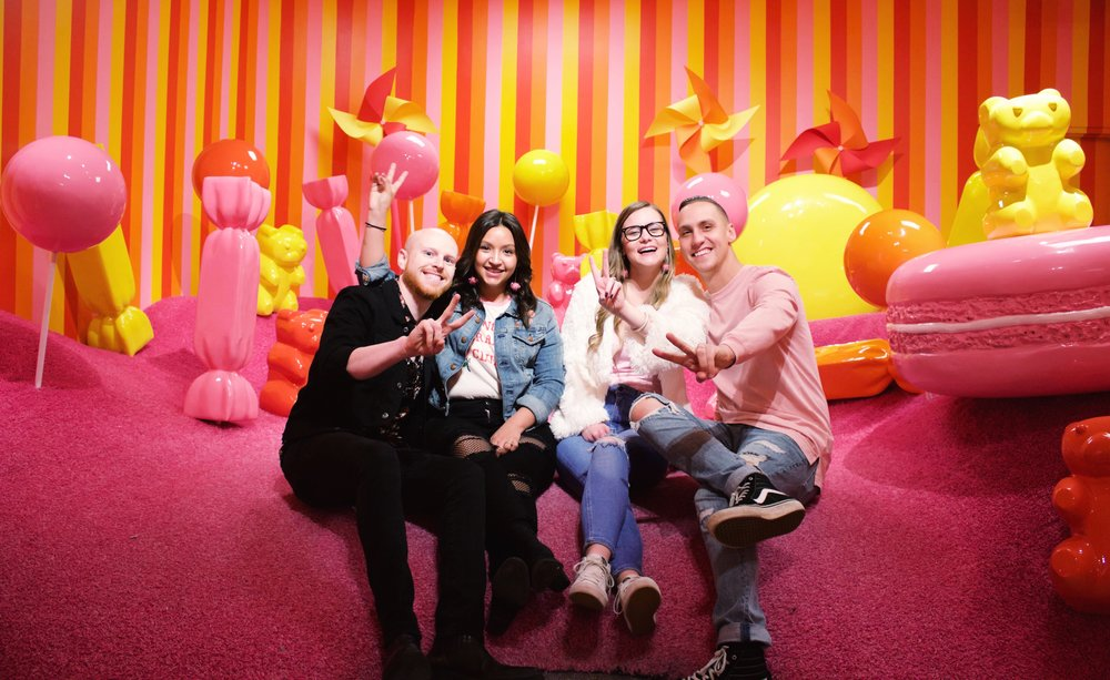 Museum of Ice Cream, Giant gummy bears, candy land, friends