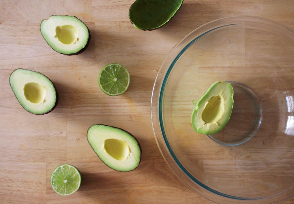 Perfect Ripe Avocados and lime for a Super Bowl Party
