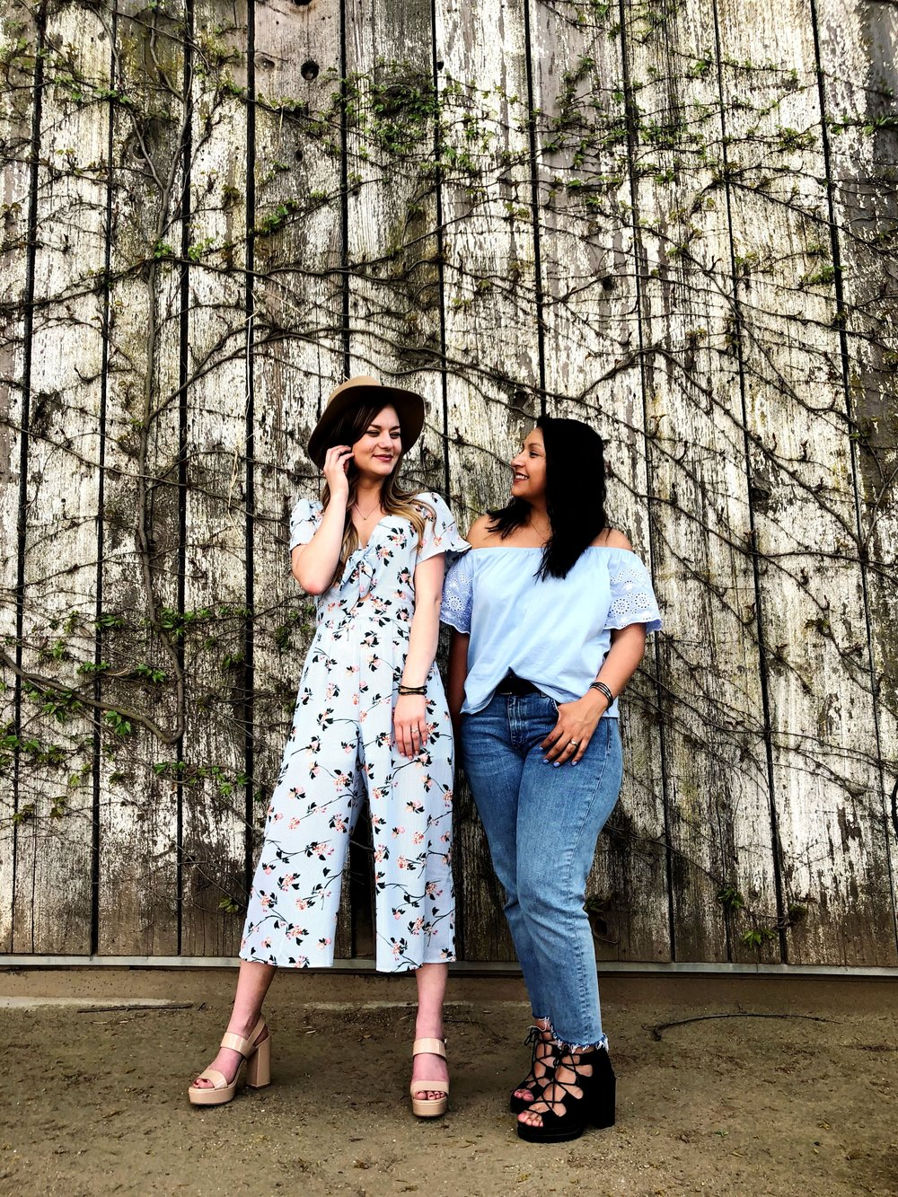 BFF wine tasting adventure with pastel color inspired OOTD