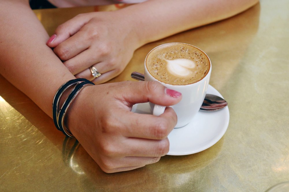 Cortadito from Don Francisco's with a Maria Shireen HairTie Infinity Bracelet