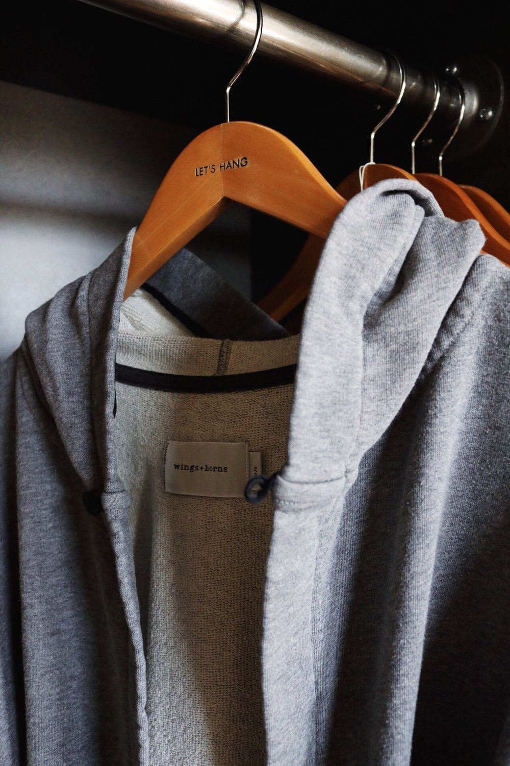 Wings + Horns Grey Cotton Robe