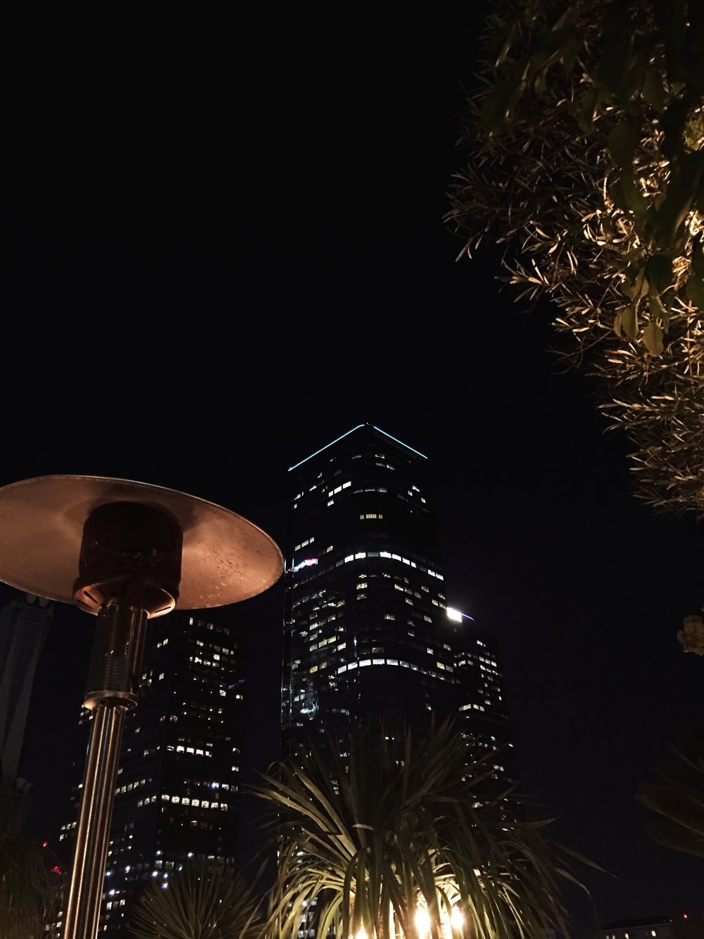 Rooftop views at Perch in Downtown Los Angeles