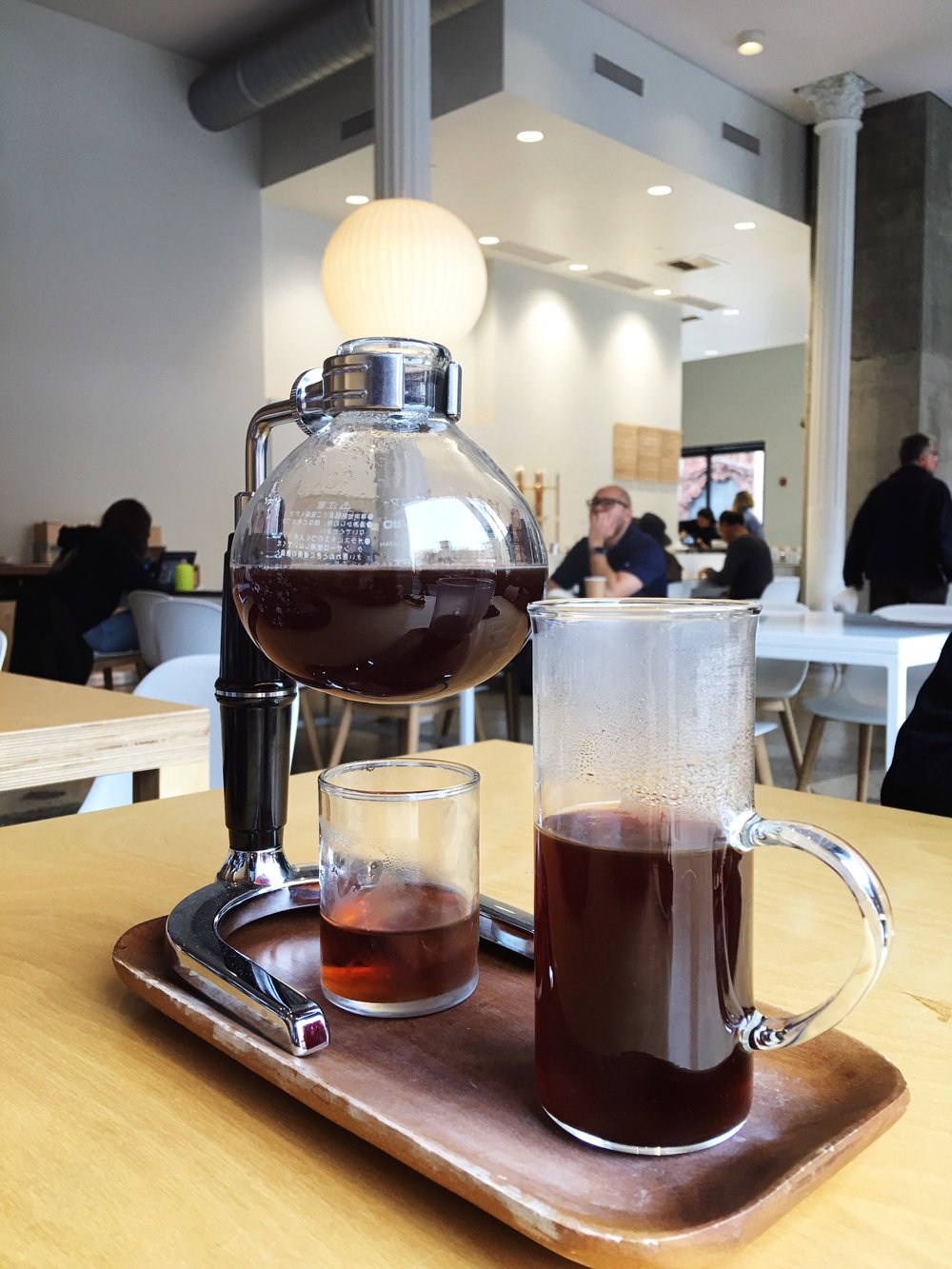 Syphon Coffee from Blue Bottle Coffee in the Bradury Building