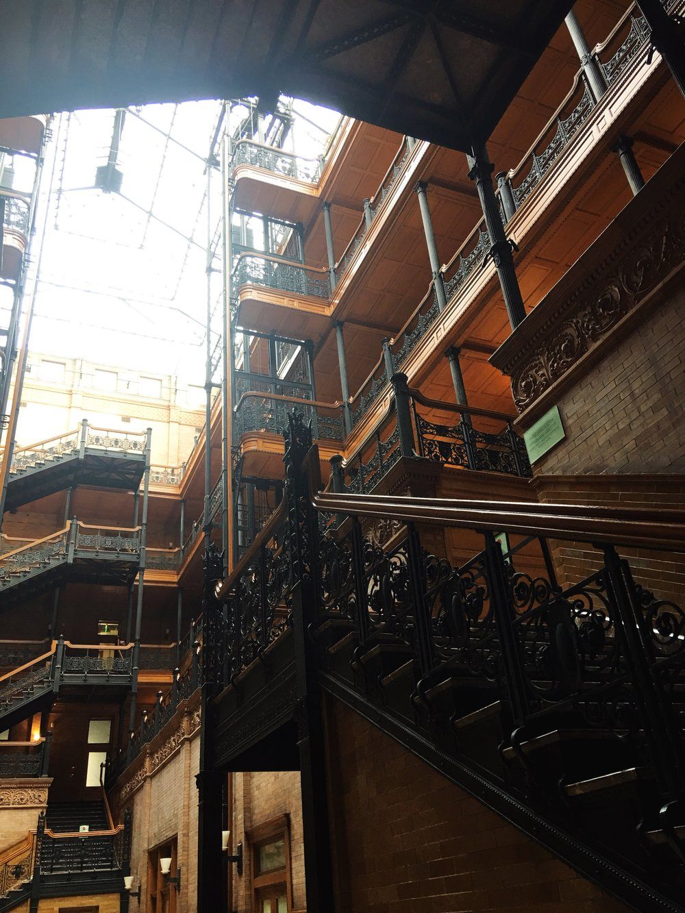 Iron Working Details at the architecturally famous Bradbury Building in Downtown Los Angeles