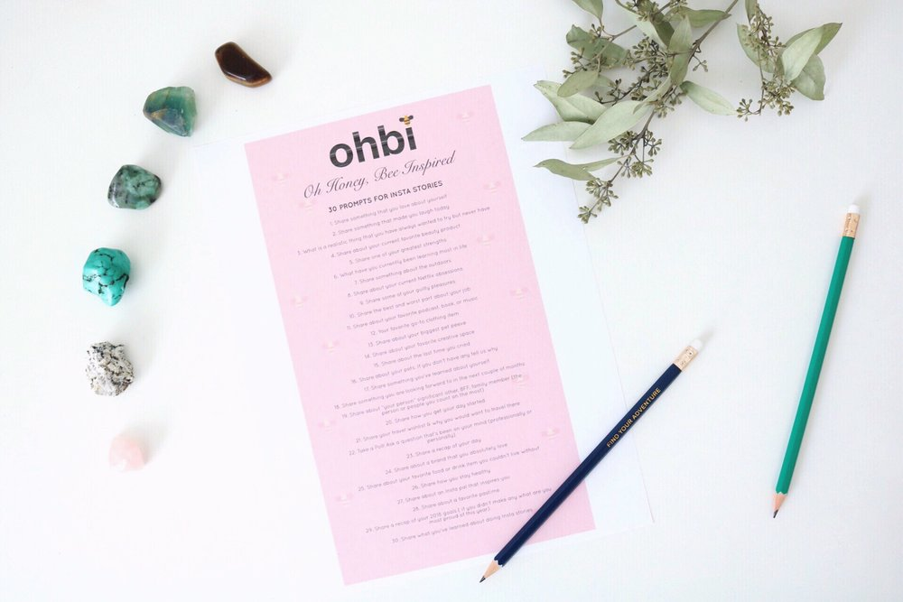 OHBI Instagram Video Prompts. Crystals that help guide Success. Dried Eucalyptus. Find Your Adventure. Rose Quartz is for Love