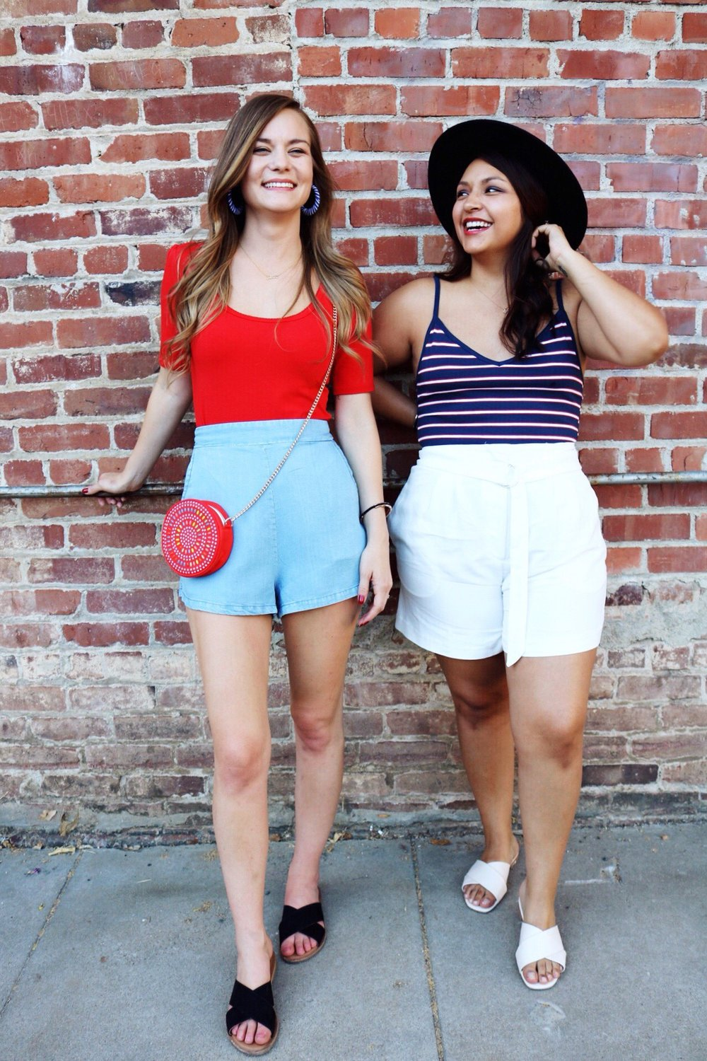 You can't go wrong with solid colors and stripes to create the perfect 4th of July outfit!