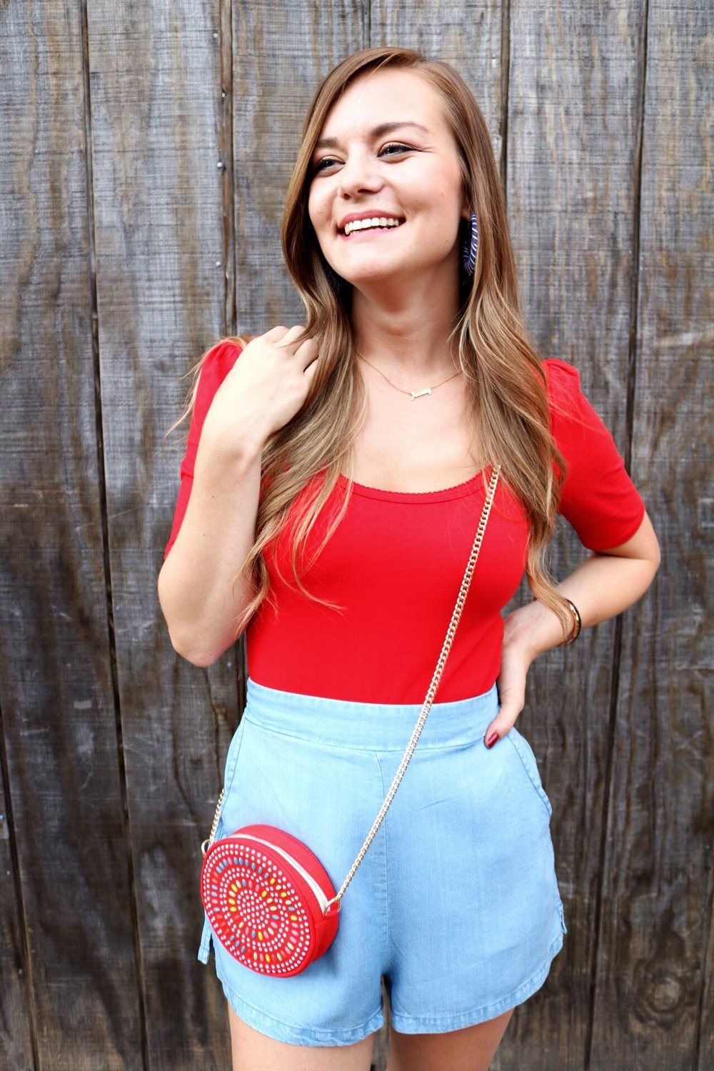 Light weight Chambray shorts are the perfect pair of shorts for hot summer nights!