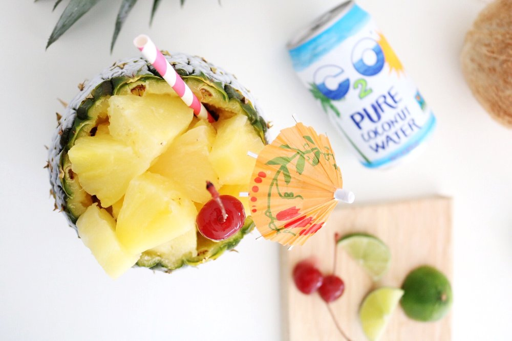 Use a hollowed out pineapple as a bowl to serve fresh pineapple at any summer gathering!