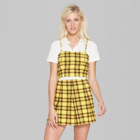 The Yellow Plaid Top $18