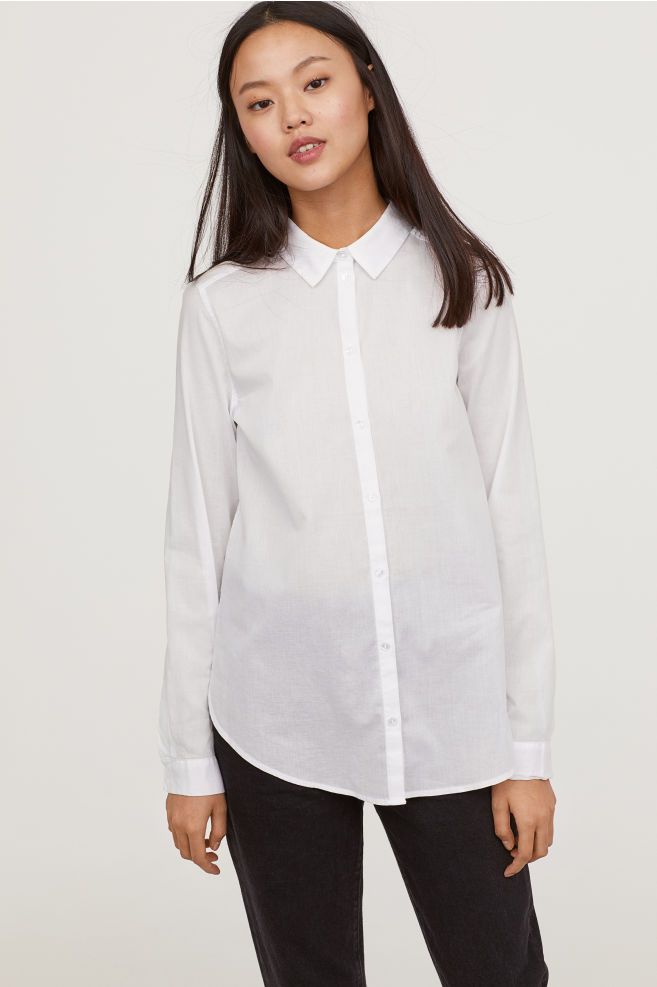 White Cotton Shirt $12.99