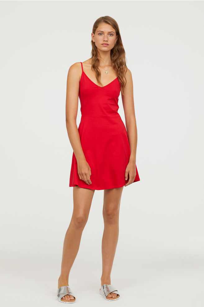 Red Jersey Dress $12.99