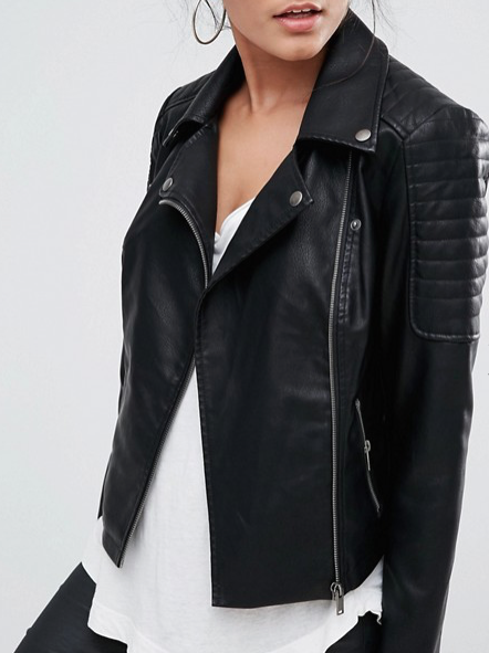 Faux Leather Jacket $60