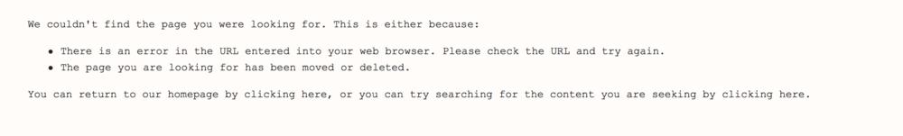Custom Squarespace 404 Page