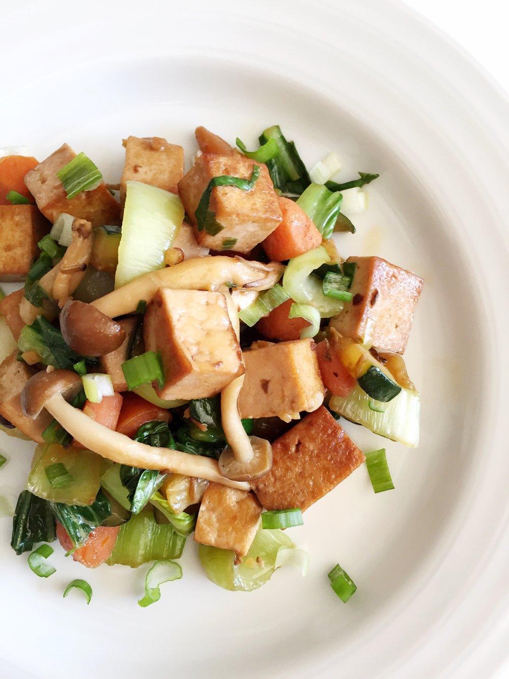 ginger tofu stirfry