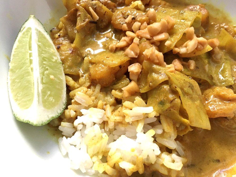 Blue Apron: Spicy Shrimp Coconut Curry