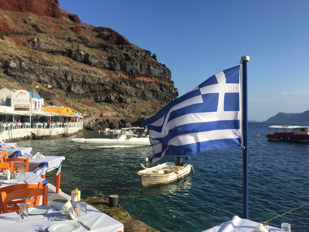 Santorini! Really searching for Kostos.