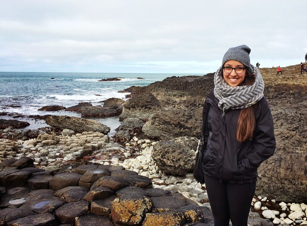 Gettin in touch with my Irish roots at Giant's Causeway in Ireland
