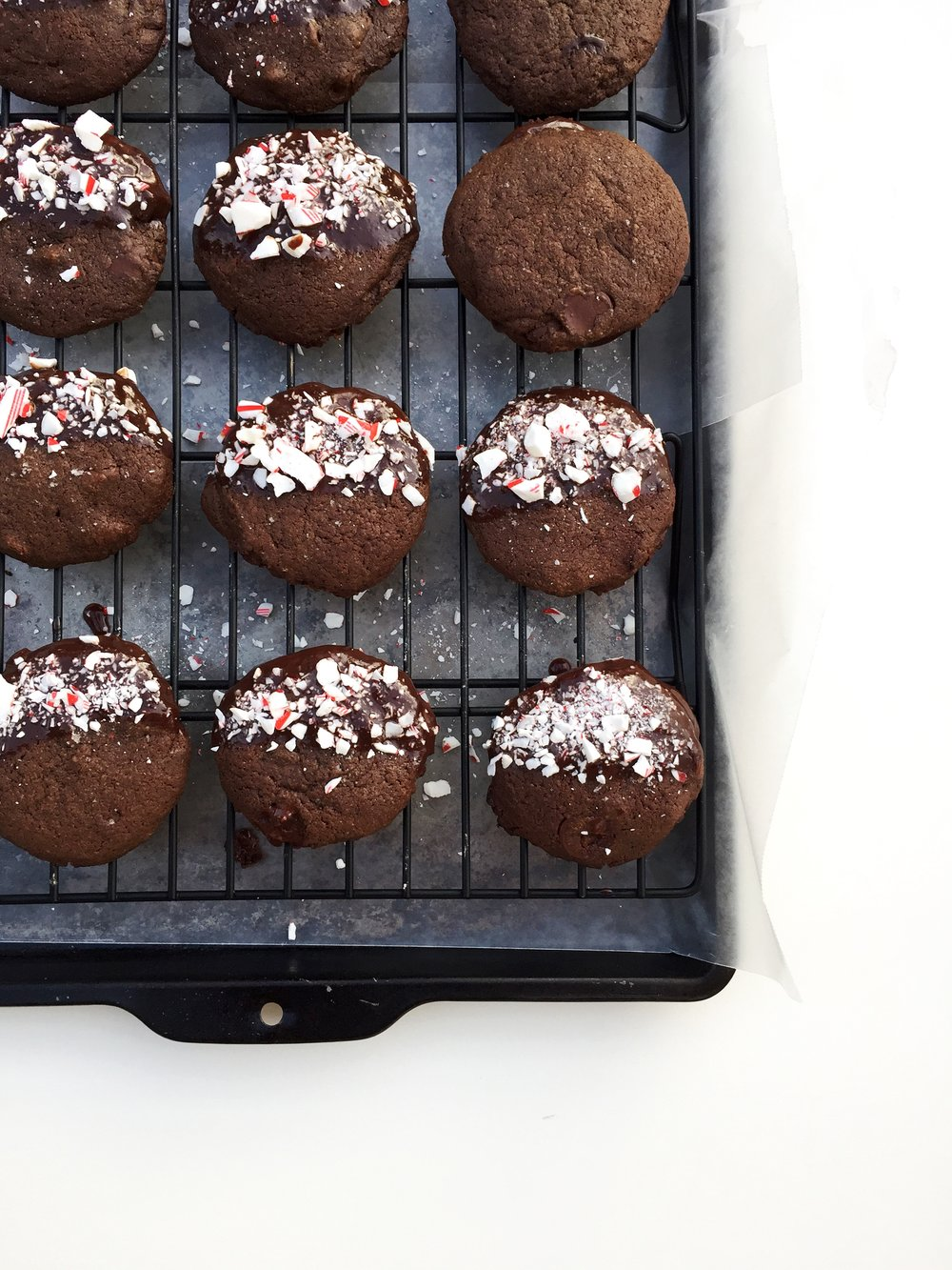 Double Chocolate Peppermint Cookies Of The Same Mix