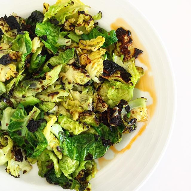 Brussel-ing into the weekend! A new favorite dish is charred brussel sprout leaves with chili oil and lemon! Peel back the leaves while watching some #netflix and toss in a hot skillet. Perfect recipe for a #lowkey weekend.