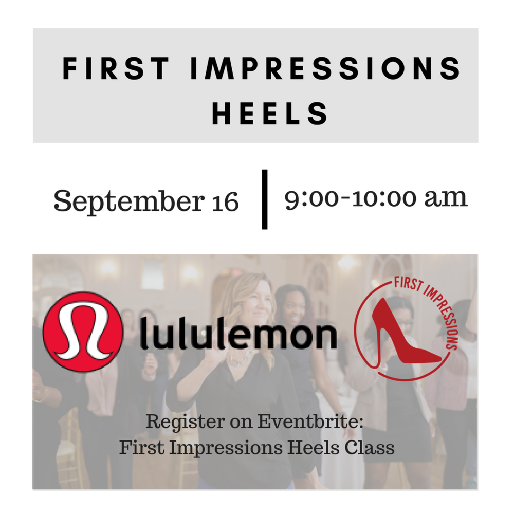 Join First Impressions and Lululemon for an exhilirating and empowering heels class! -