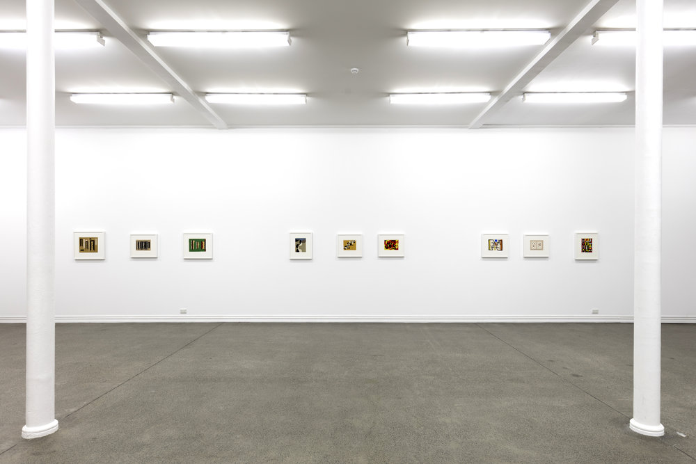 Gordon Walters: Gouaches and a Painting from the 1950s, curated by Laurence Simmons, installation view Starkwhite, 2015