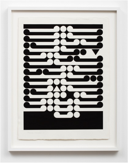 Gordon Walters, Thematic Variation 1, 1973, ink on paper, 705 x 525 mm paper size