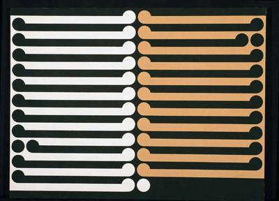 Adam Art Gallery , Wellington, New Zealand   Image credit:   Gordon Walters    Kahukura, 1968 Acrylic and pva on canvas 1138 x 1523 mm