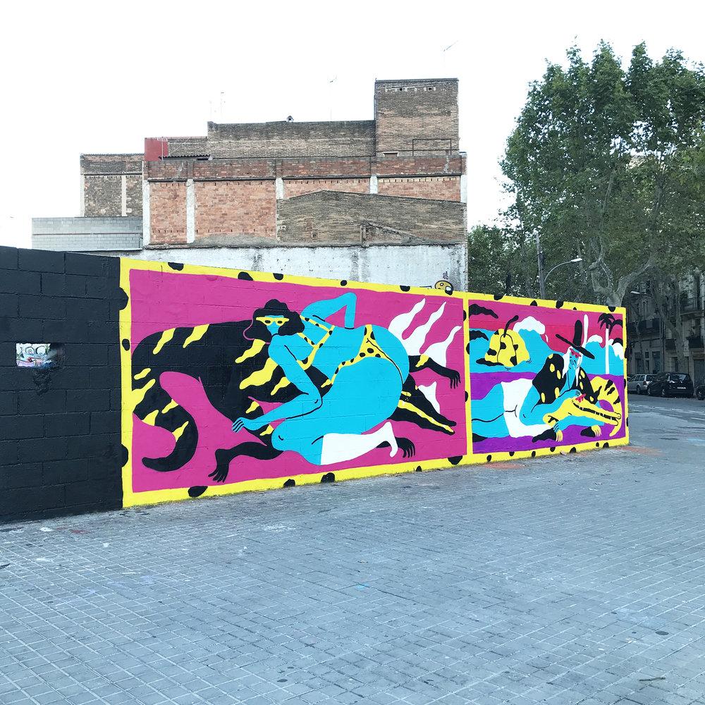 Mural Barcelona Jose Mendez