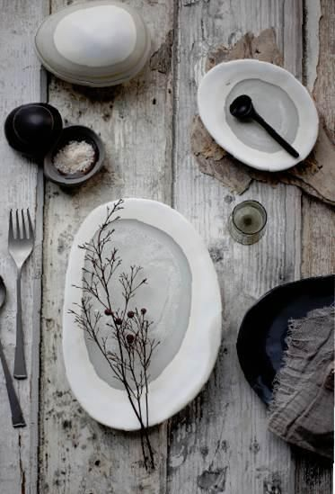 Neutral table scape with natural textures