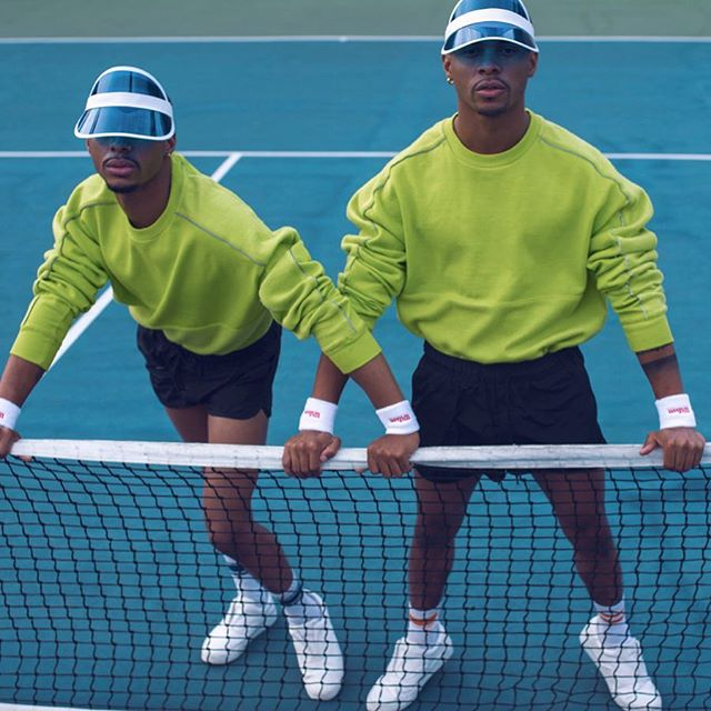 Sport 2.0 🎾  Fashion Served 🍽🍹 @officialharristwins  Photog: @thejsharrington  Styling: @officialharristwins  Creative Dir: @randyjperry