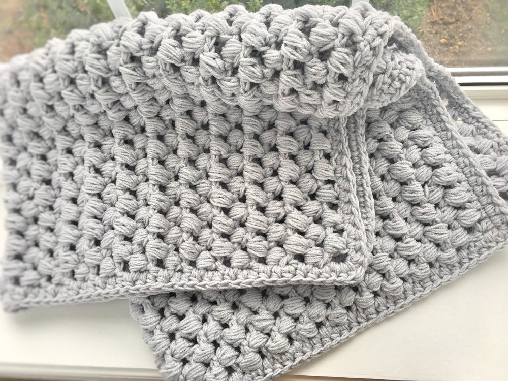 Giant Puff Stitch Baby Blanket Ally S Woolery