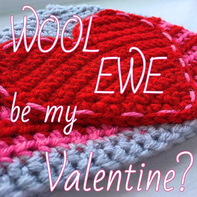 Happy Valentine's Day! I hope it was full of love... and YARN. 😘 #allyswoolery #redheartyarn #redheart #crocheting #crochetaddict #valentinesday #yarn #iloveyarn