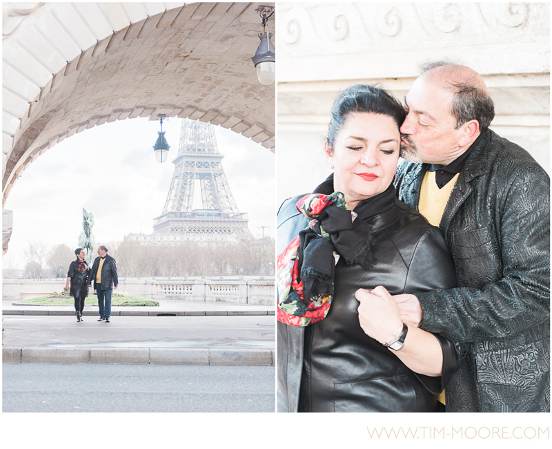 Paris Photographer Tim Moore had a lot of fun working with Morgan and Saab during their photo shoot in front of the Eiffel Tower