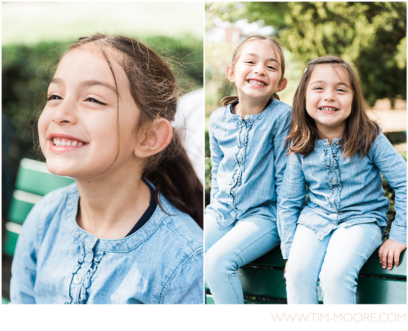 Portraits and having fun for these 2 sisters in Paris during their family photo shoot