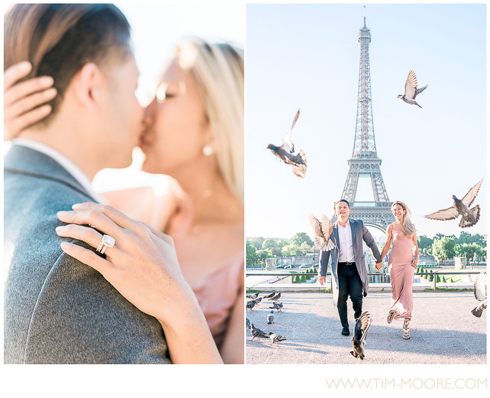 Paris photographer Tim Moore - Amanda and KC having the time of their lives together during this very special honeymoon spring photo shoot in Paris