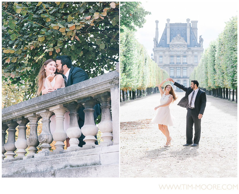 Paris photographer Tim Moore - Maria and Chaten enjoying some quality time together at the beginning of fall during their anniversary photo shoot in Paris